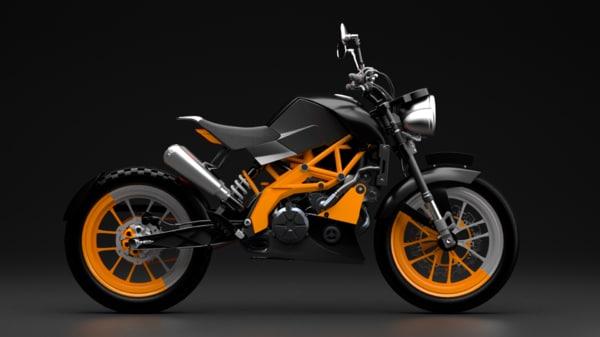 motor bike duke 3D model