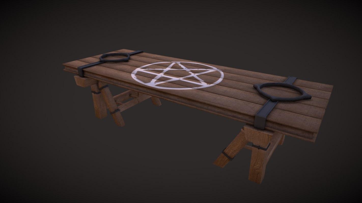 3D ritual table