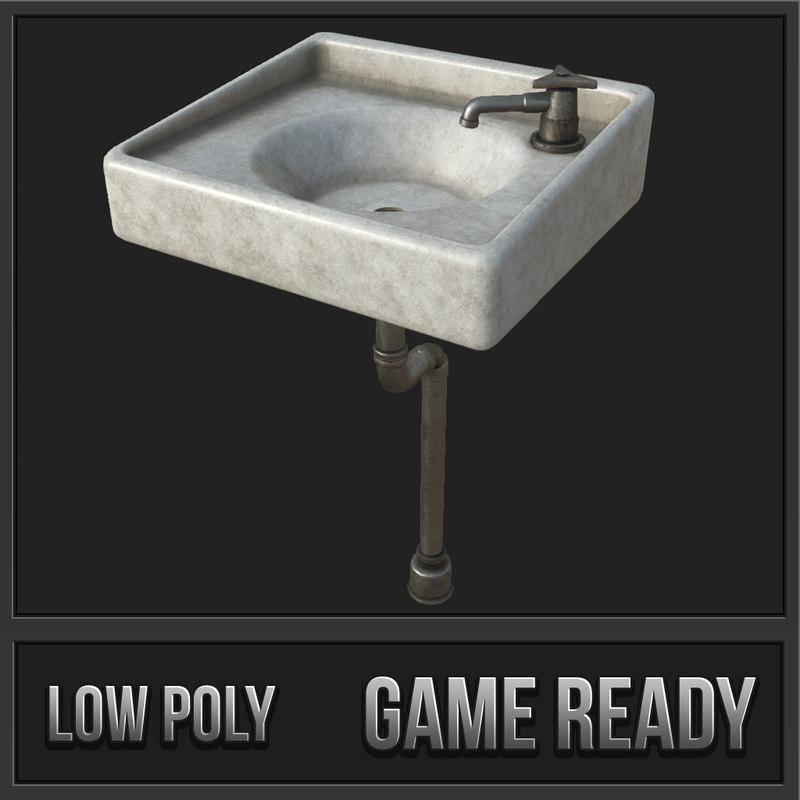 old sink pbr model