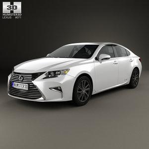 3D lexus es hybrid model