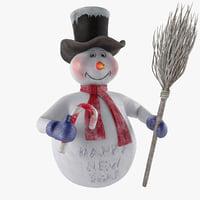 3D snowman