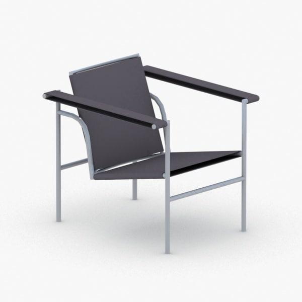 3D model interior - modern armchair