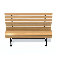 3D usual bench n model