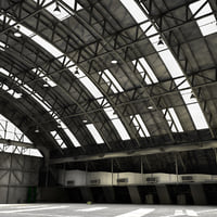 3D aircraft hangar model