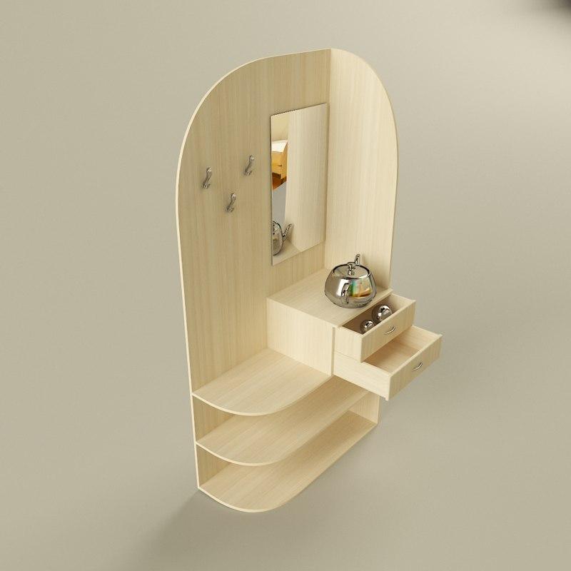 3D corner cabinet model