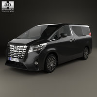 3D toyota alphard cis model