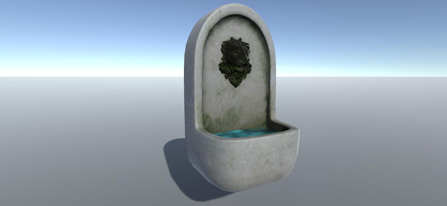fountain set 3D model