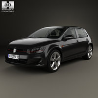 3D model volkswagen golf gti