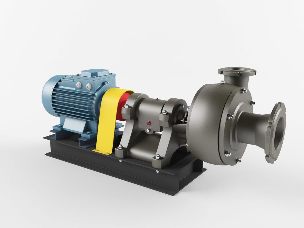 3D pump sh model
