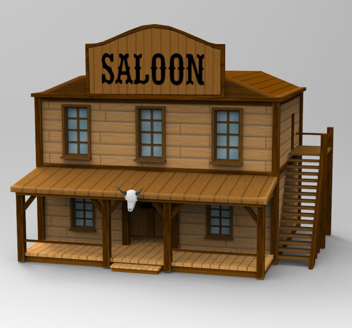 3D handpainted saloon