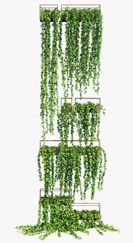 planter box ivy 2 3D model