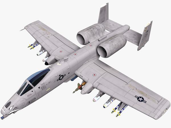 a-10 10 thunderbolt 3D model