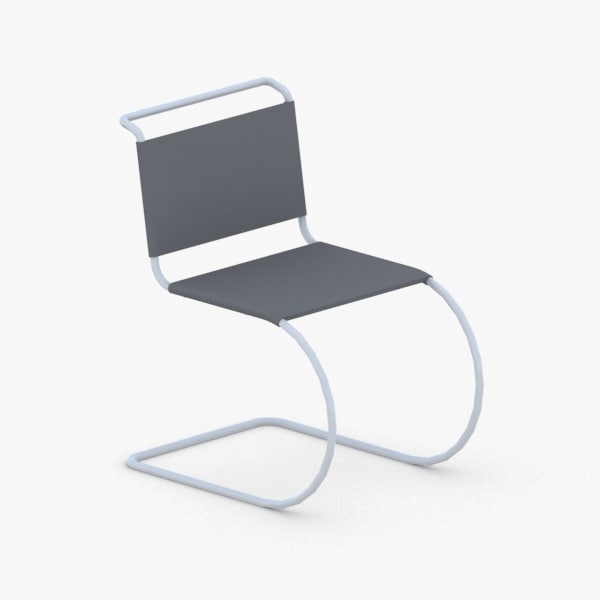 3D model interior - modern chair stool