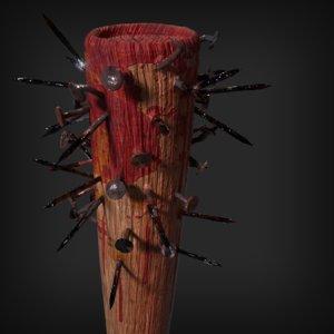 weapon nails bat 3D
