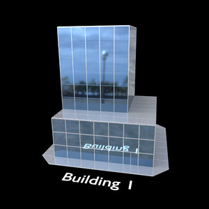 3D building skyscraper construction kit model