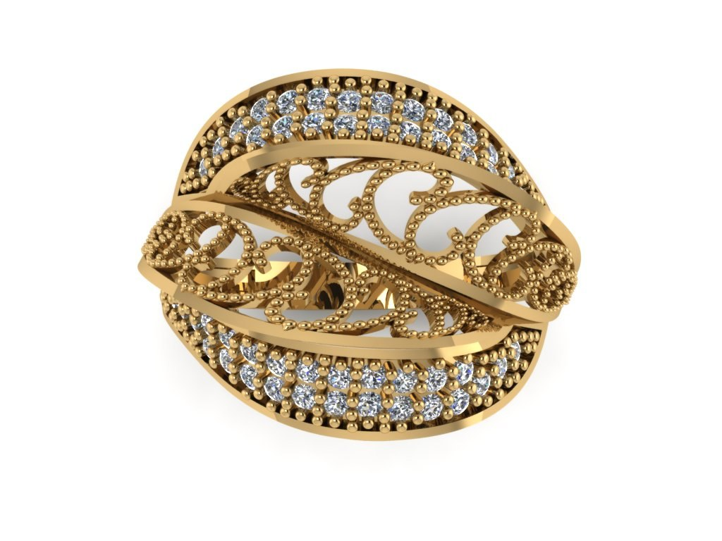 engagement trend jewellery ring 3D