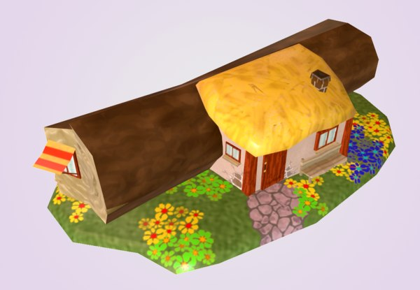 3D model house log mobile games