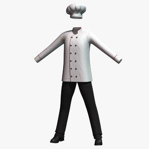 3D cook costume model