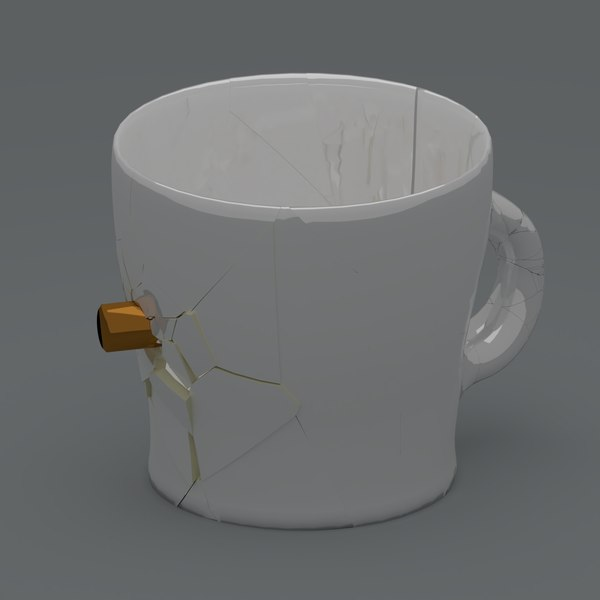3D animation glass breaking