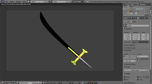 yoru sword piece 3D model