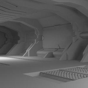 3D interior scifi