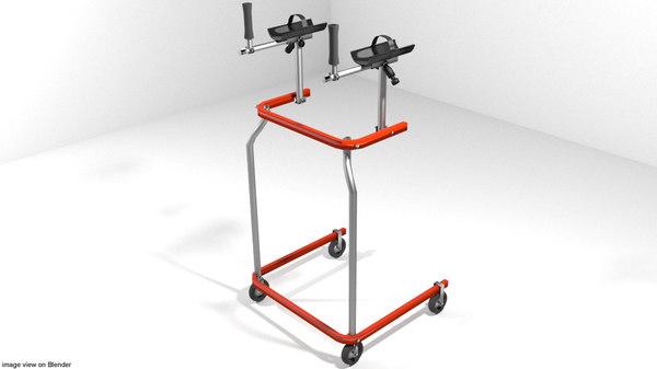 3D aids trainer walking model