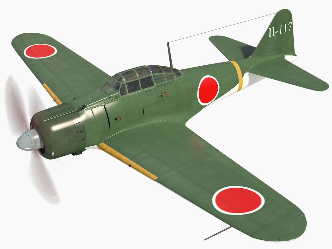 mitsubishi a6m2 zero 3D model