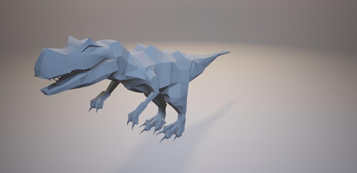 3D modelling t-rex
