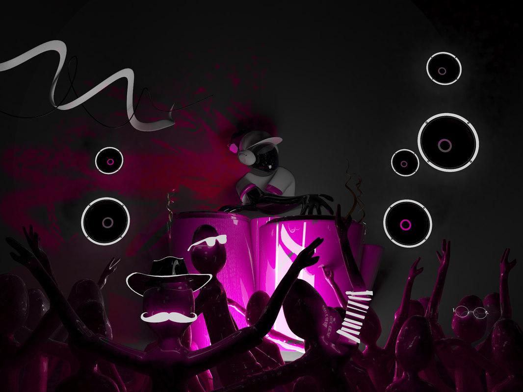 3D art dj party