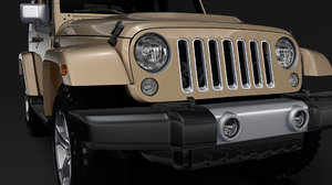 3D jeep wrangler chief jk model