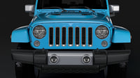 3D model jeep wrangler unlimited chief