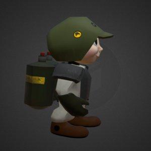 3D character alex