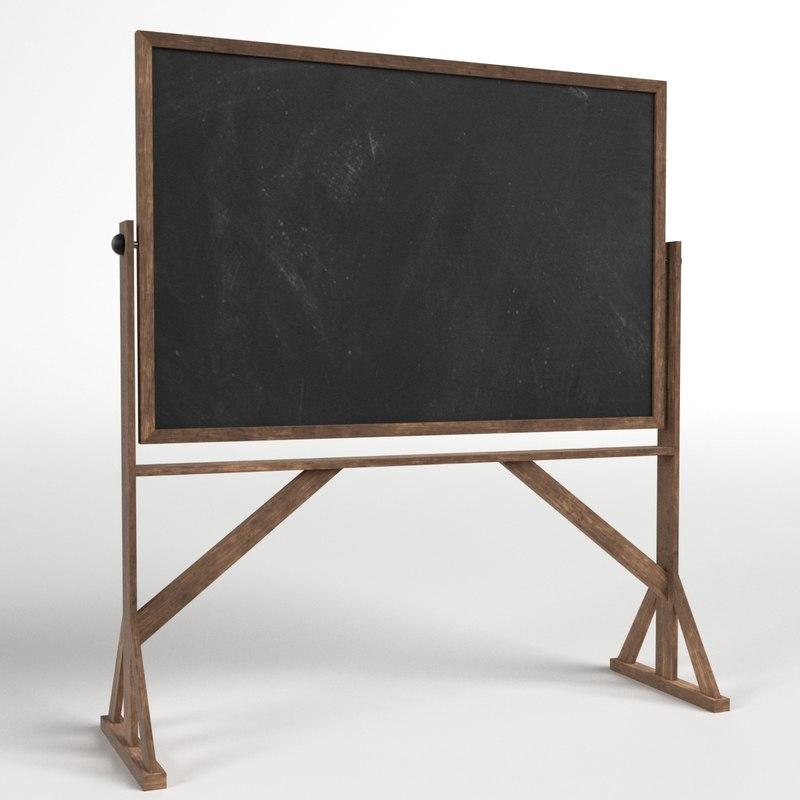 3D reversible freestanding chalkboard