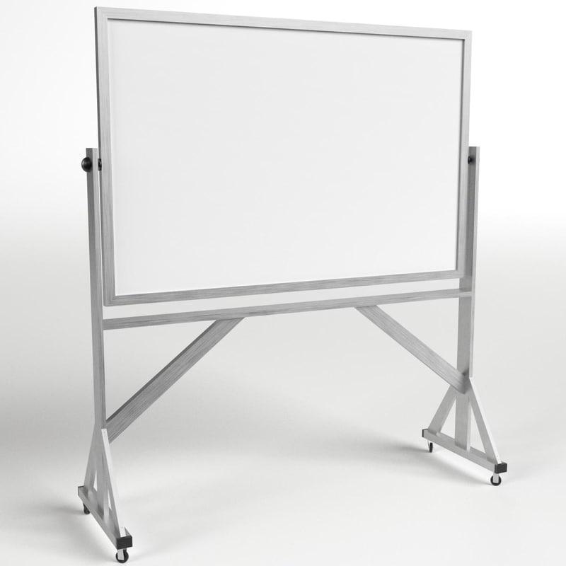 3D reversible freestanding whiteboard