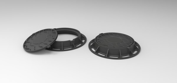 3D model street manhole