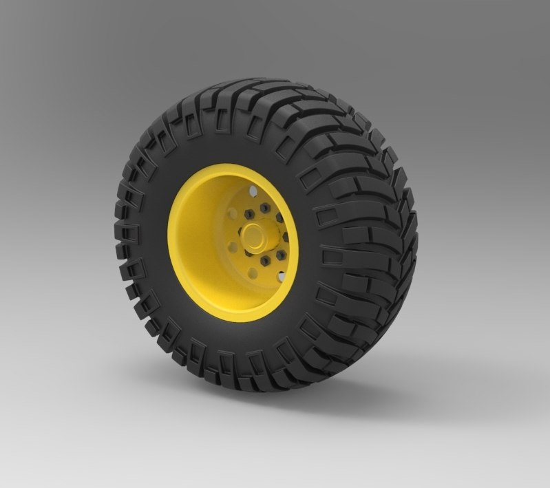 wheel offroad 3D