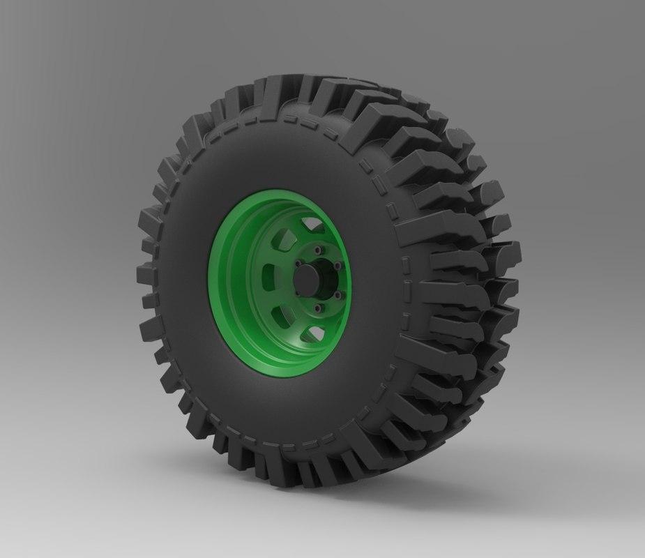 wheel offroad 3D model