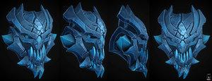 3D model skull stylized