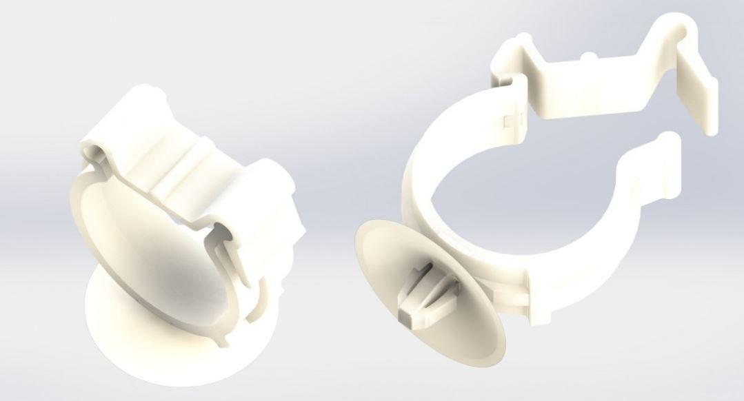 3D plastic clips cable