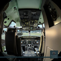 airplane cockpit modeled 3D model