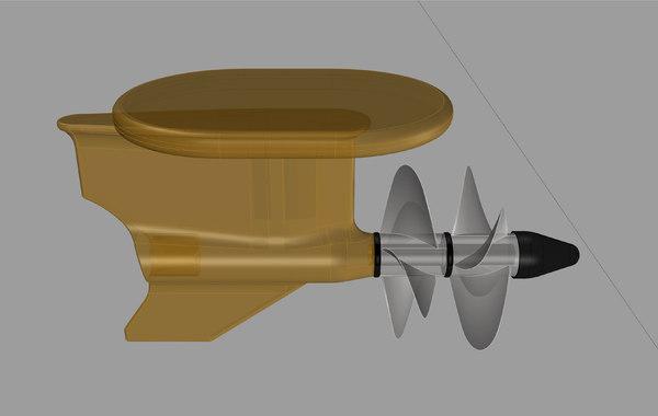 ips engine propeller model