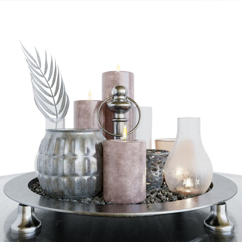3D model decor candles
