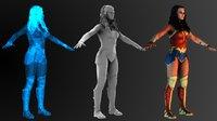 wonder woman 3D model