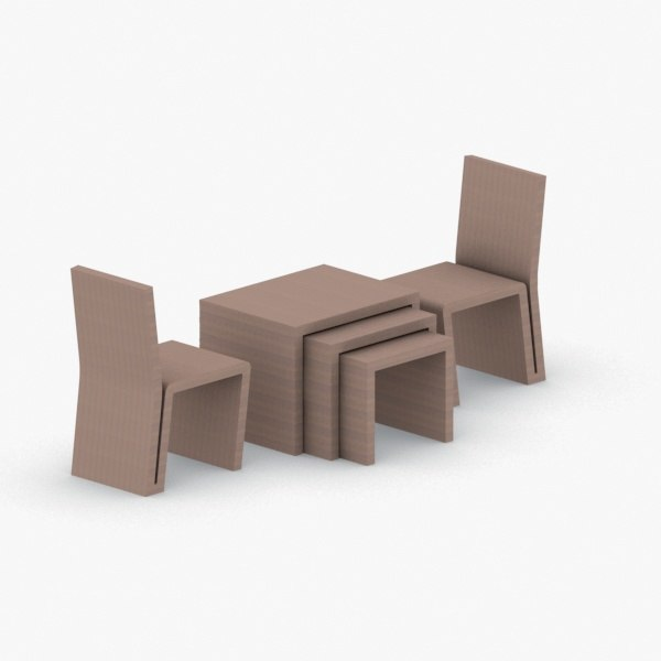 3D interior - sets modern chair