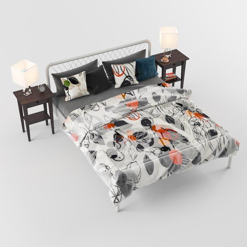 bed nesttun lamp 3D model