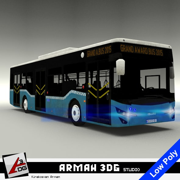 3D isuzu citiport bus