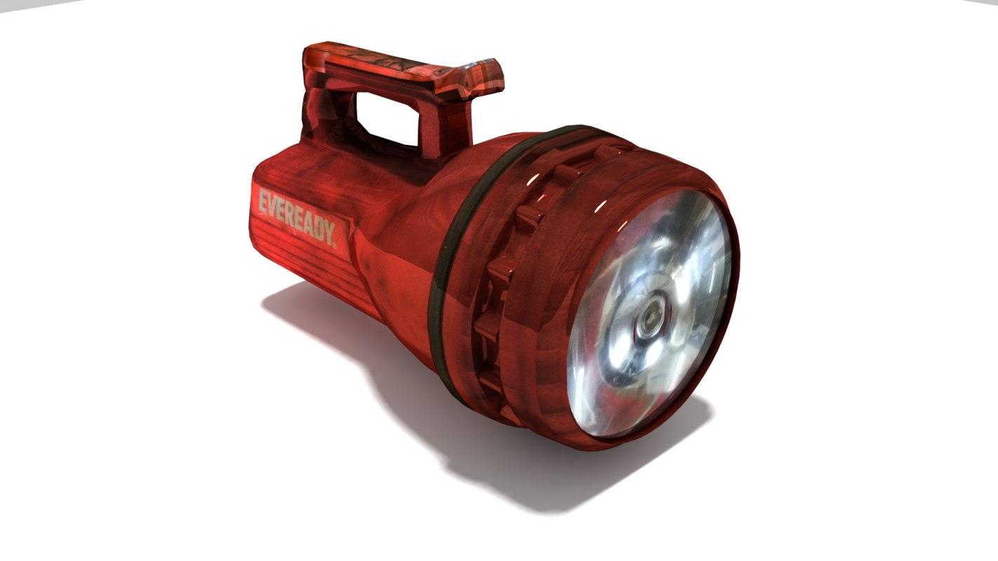 flashlight torch 3D