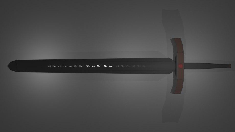 swords excalibur lost 3D model
