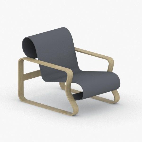 3D interior - modern armchair