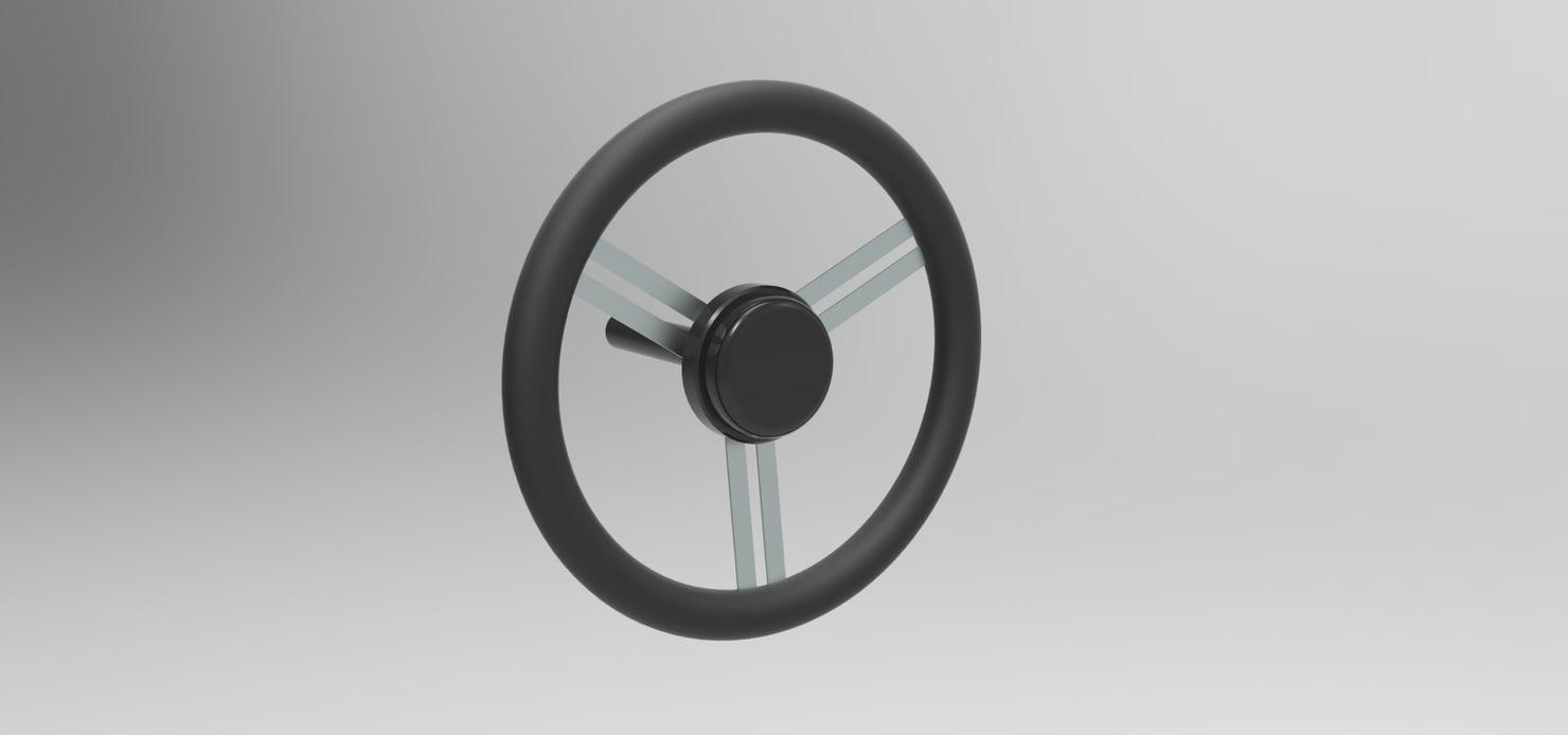 stearing wheel 3D